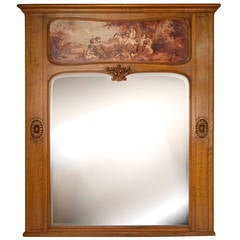 Napoleon III Style Painted Trumeau