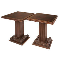 Pair of Grosfield House Walnut Cafe Tables