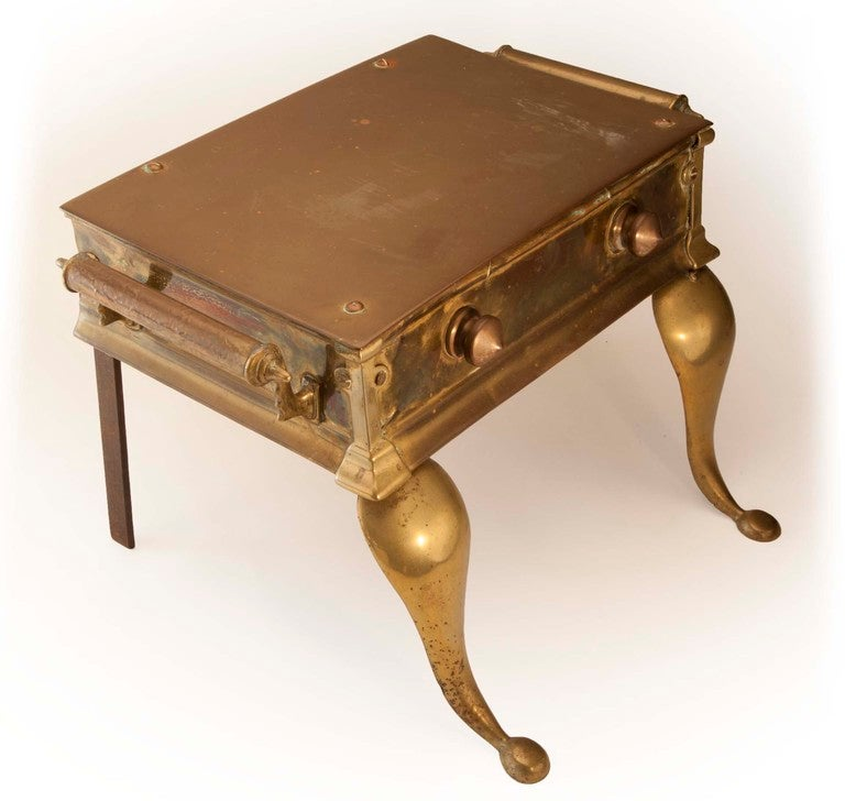 Hearth Bench: Antique Brass Hearth Bench At 1stdibs