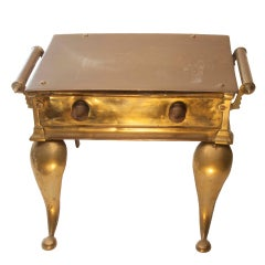 Antique Brass Hearth Bench