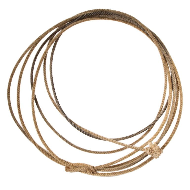 Authentic Cowboy S Vintage Rope Lariat For Sale At 1stdibs