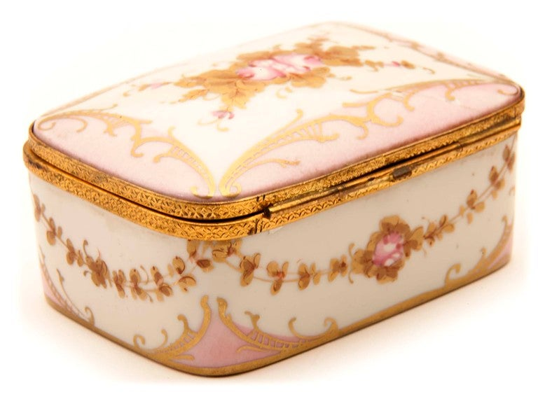 French Marie Antionette Style Limoge Box For Sale