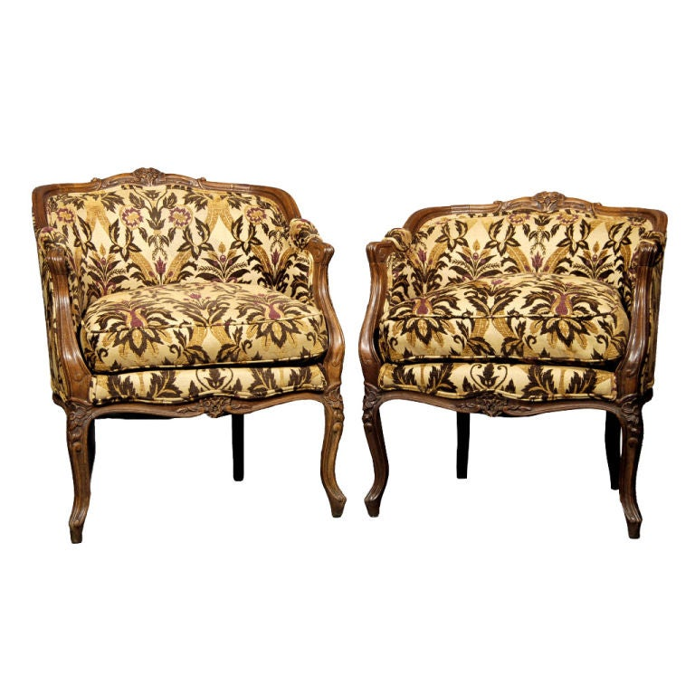 Pair of French Antique Bergeres