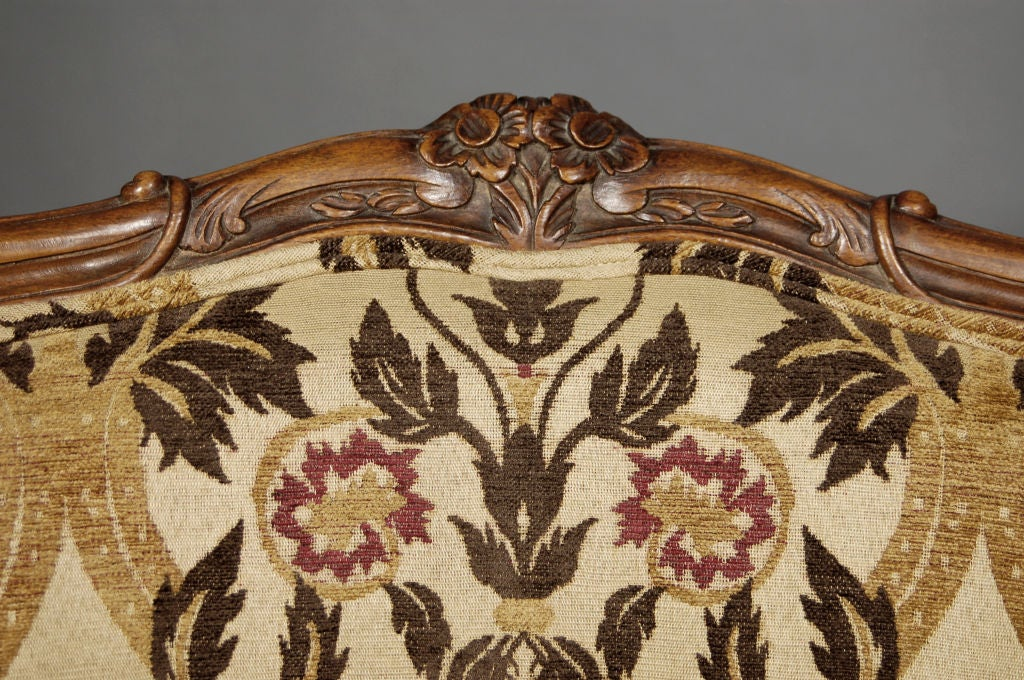 19th Century Pair of French Antique Bergeres