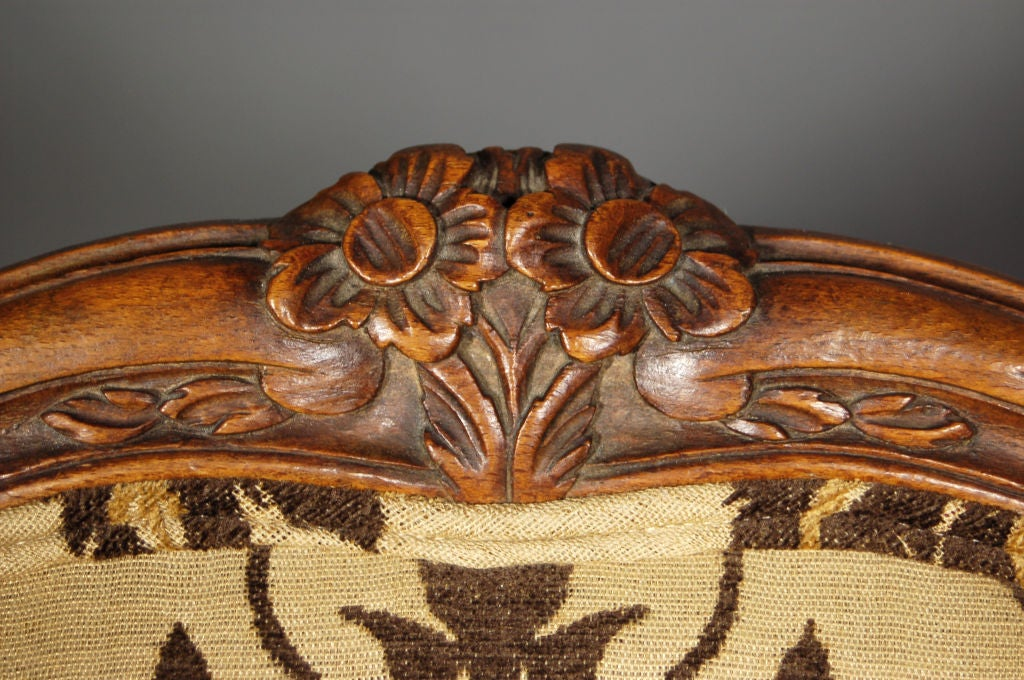 Walnut Pair of French Antique Bergeres