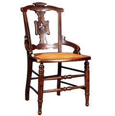 East Lake Mahogany Woven Cane Chair