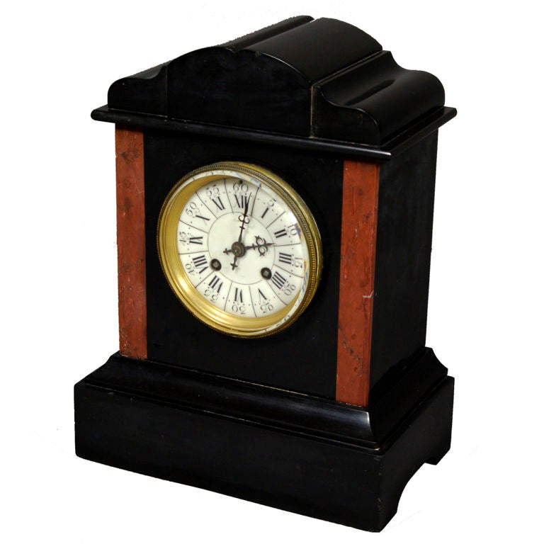 Antique French Clock With Porcelain Face 2