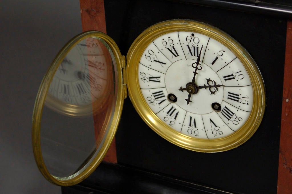 Antique French Clock With Porcelain Face 3