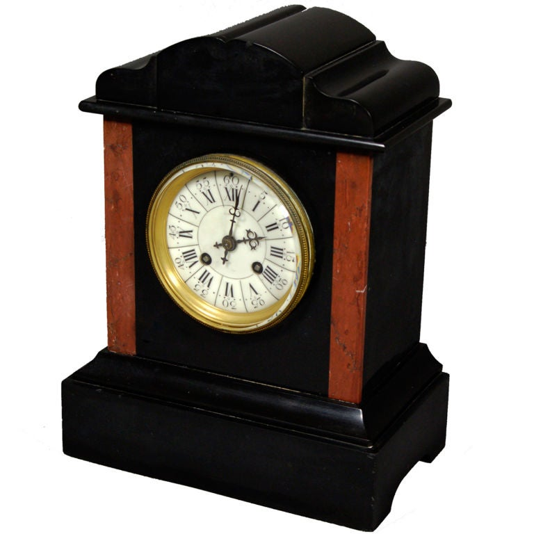 Antique French Clock With Porcelain Face 1