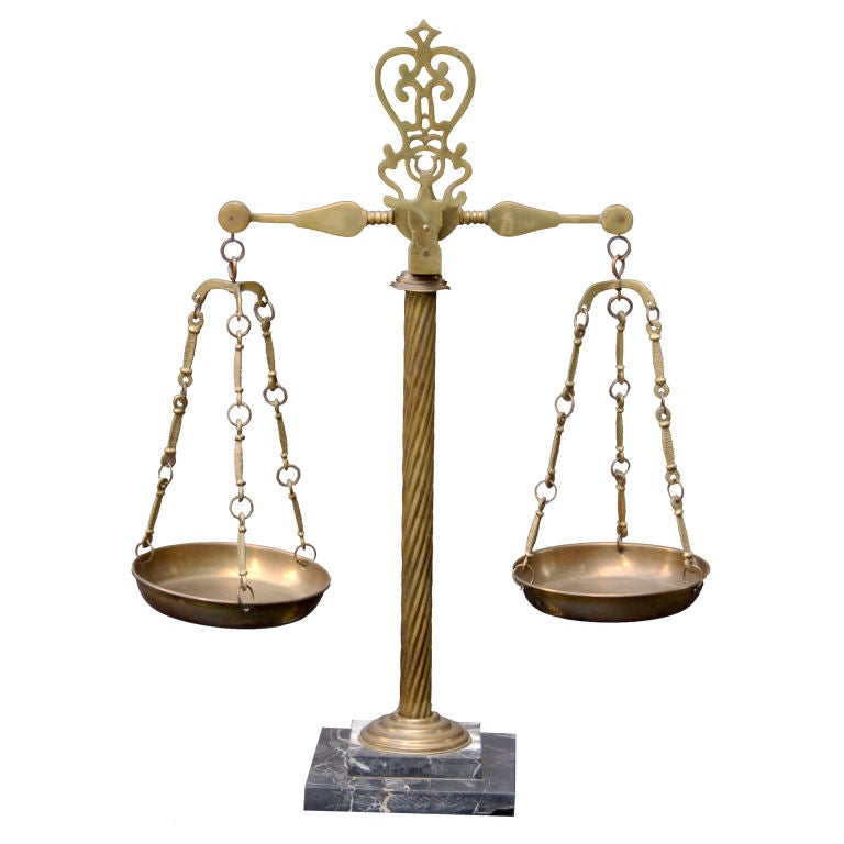vintage italian marble and brass apothecary scales for sale at 1stdibs
