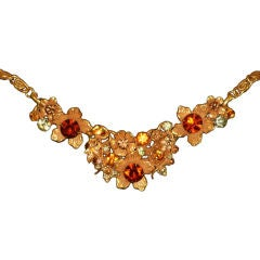 Exquisite Vintage Jewel, Pearl &  Rhinestone Necklace