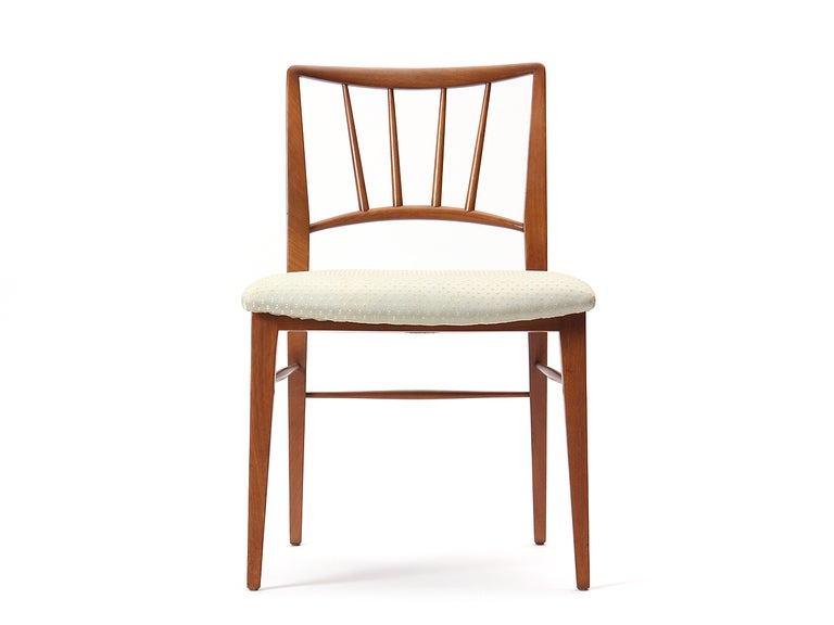 Mid-Century Modern Spindle Back Dining Chairs by Edward Wormley For Sale