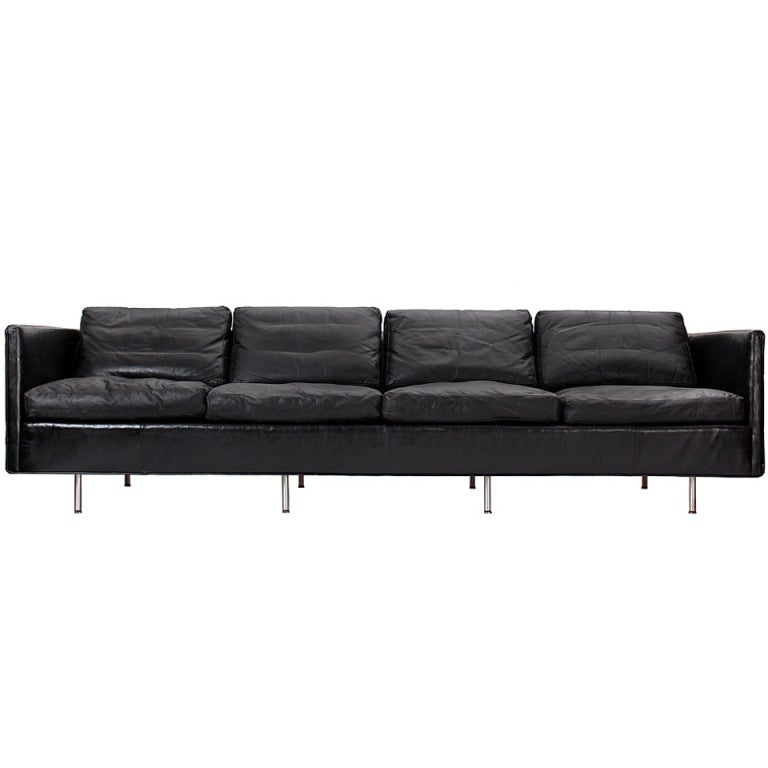 leather sofa by george nelson at 1stdibs. Black Bedroom Furniture Sets. Home Design Ideas