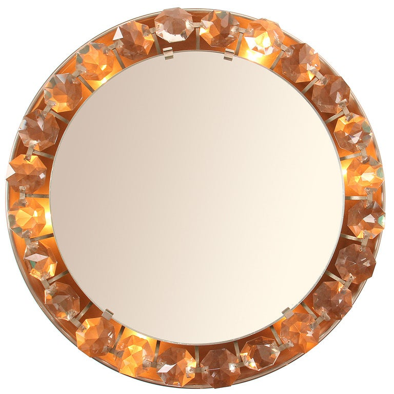 Crystal Wall Mirror For