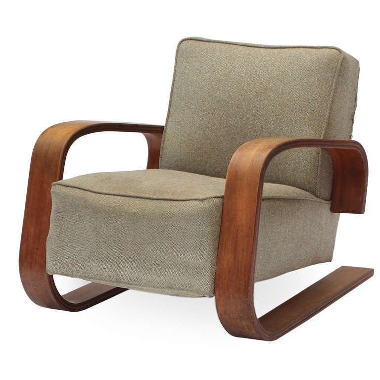 Tank chair by alvar aalto for sale at 1stdibs for Alvar aalto chaise