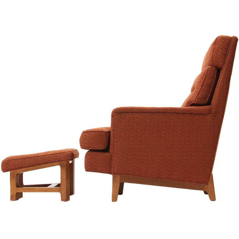 Lounge Chair and Ottoman by Edward Wormley
