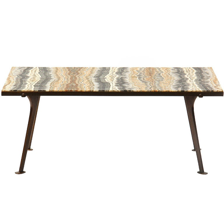 Book Matched Onyx Table By Richard Blow At 1stdibs