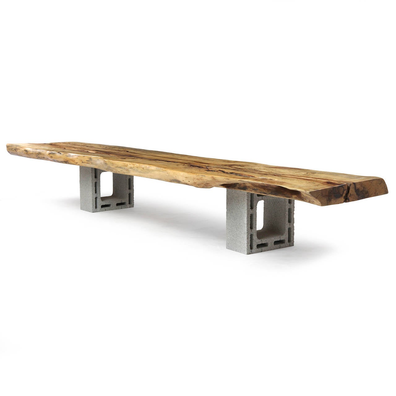 Live Edge Slab Bench For Sale At 1stdibs