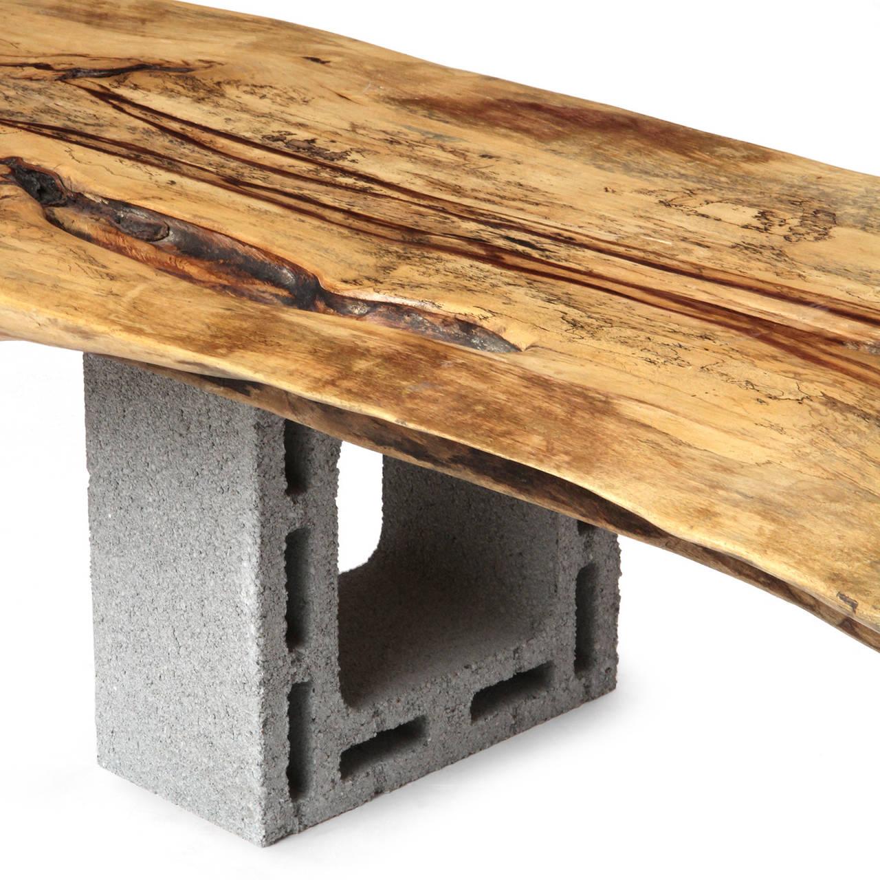 Live Edge Slab Bench For Sale At 1stdibs