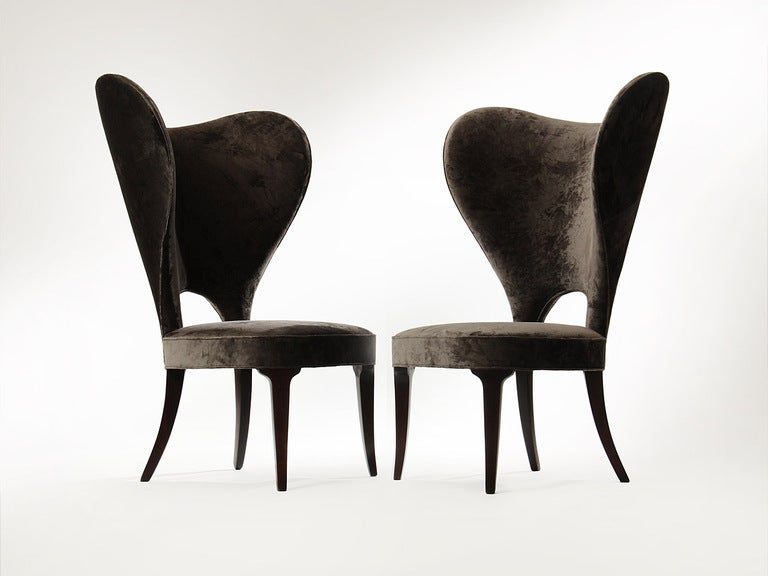 Rare Heart Wingback Chair by Edward Wormley image 2
