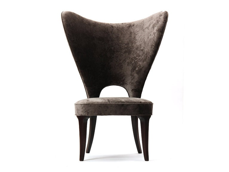 Rare Heart Wingback Chair by Edward Wormley image 4