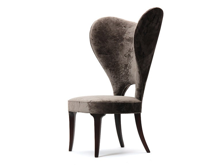 Rare Heart Wingback Chair by Edward Wormley image 5