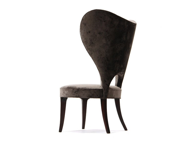 Rare Heart Wingback Chair by Edward Wormley image 7
