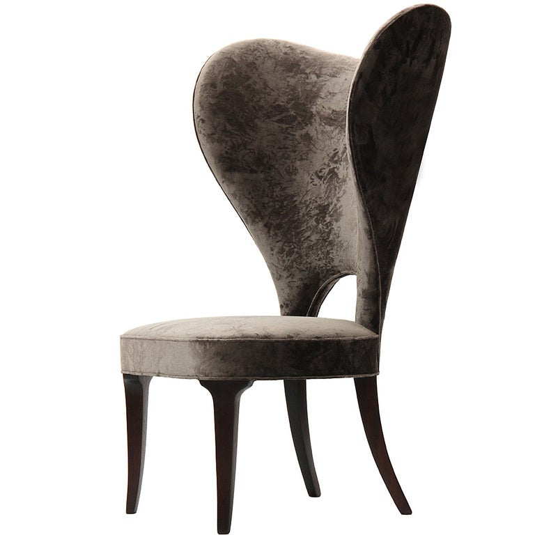 Rare Heart Wingback Chair by Edward Wormley