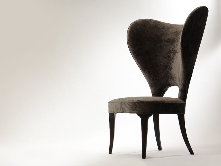 Rare Heart Wingback Chair by Edward Wormley image 3
