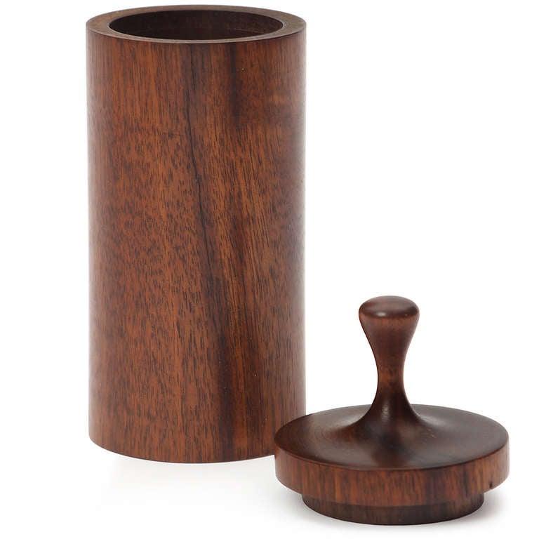 Mid-Century Modern Turned Wood Vessel For Sale