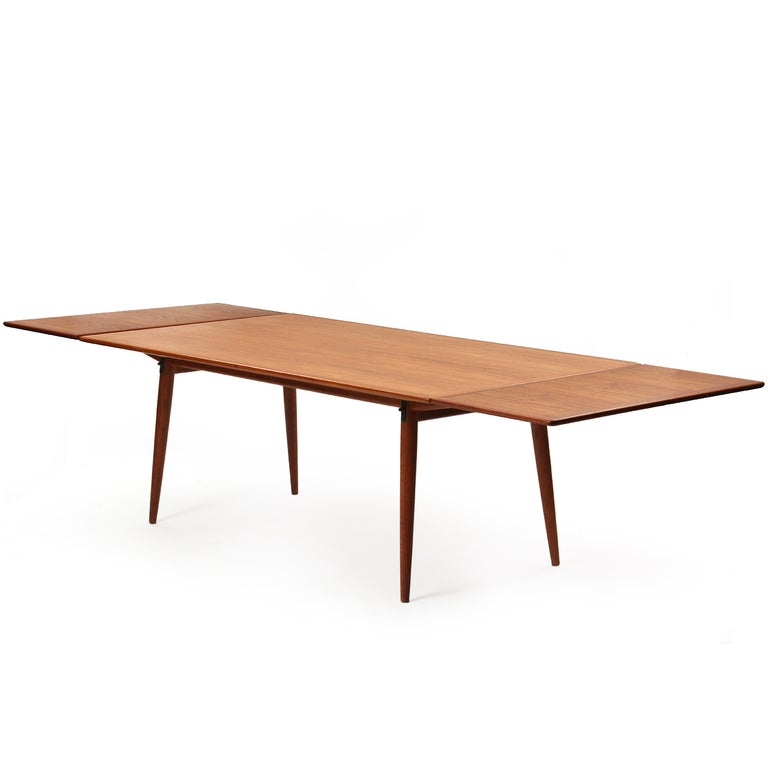 Scandinavian Modern Solid Top Dining Table by Hans J. Wegner For Sale
