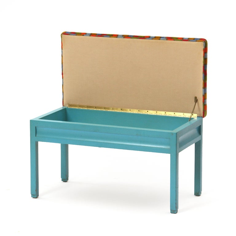 storage bench by dunbar for sale at 1stdibs. Black Bedroom Furniture Sets. Home Design Ideas