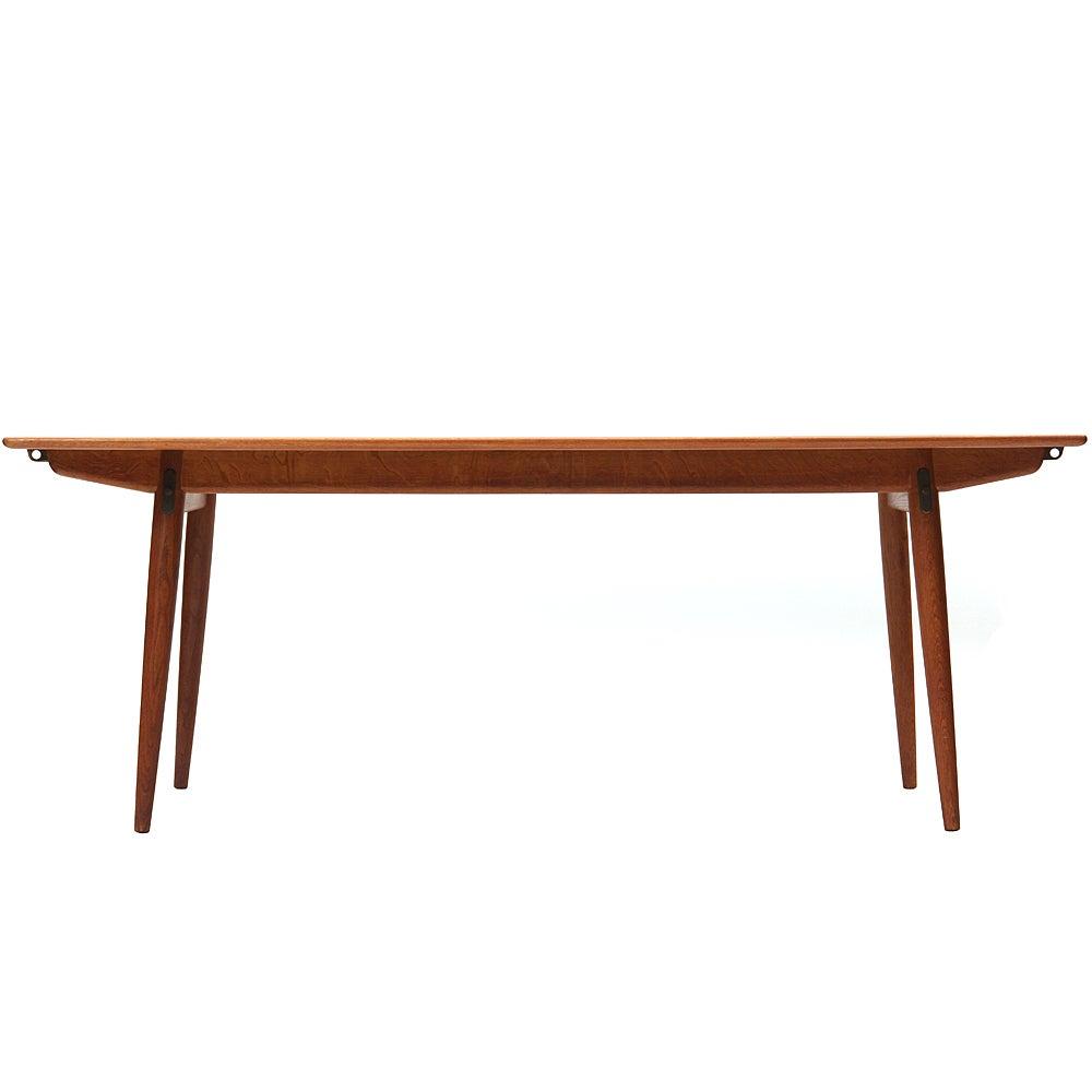 Teak and Oak Extension Dining Table by Hans J. Wegner