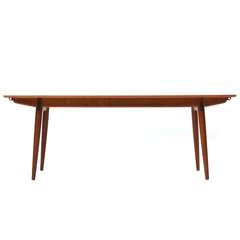 Solid Top Dining Table by Hans J. Wegner For Sale