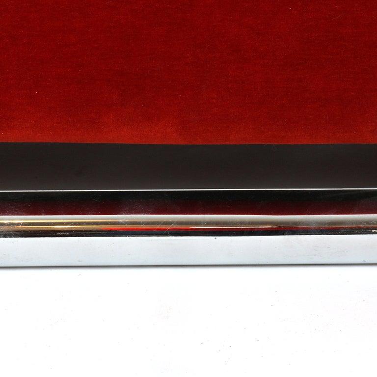 Floating Red Velvet Sofa 7