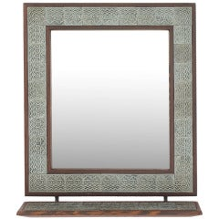 Thin edged brass mirror by edward wormley at 1stdibs for Thin wall mirror