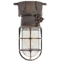 Bronze Flush Mount Industrial Light Fixture