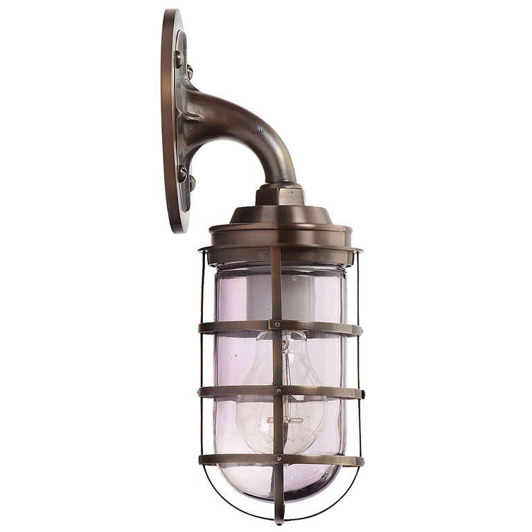 R&S Co. Industrial Bronze Sconce For Sale At 1stdibs