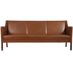 Leather Sofa by Ole Wanscher