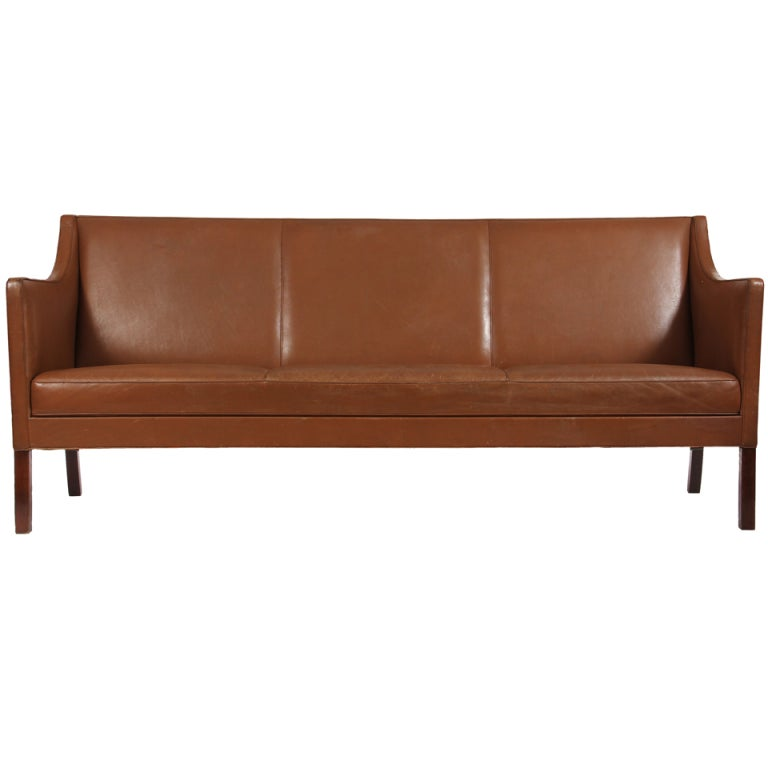 Leather Sofa by Ole Wanscher For Sale