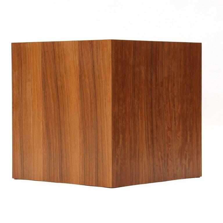 Mid-Century Modern Walnut Cube Table by Edward Wormley for Dunbar For Sale