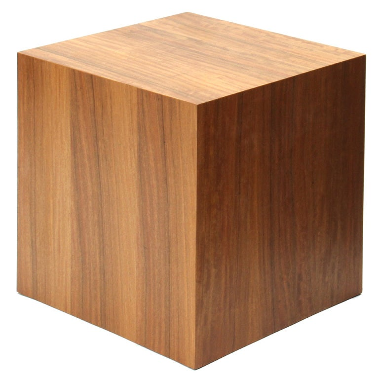 Walnut Cube Table by Edward Wormley for Dunbar For Sale at