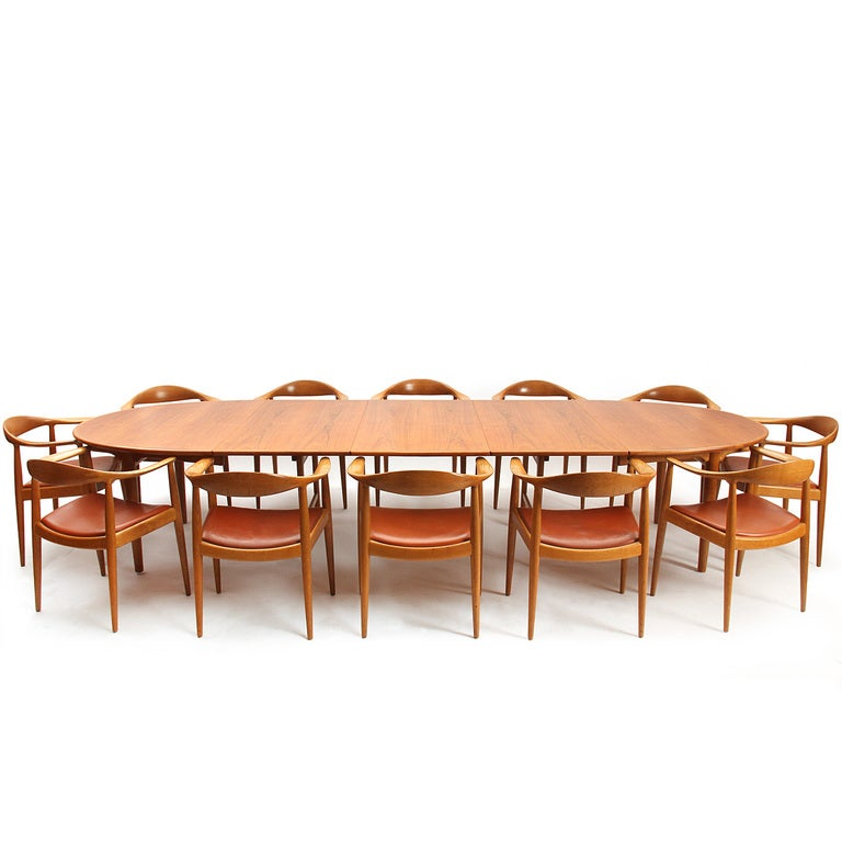 Oak Oval Table by Hans J. Wegner For Sale