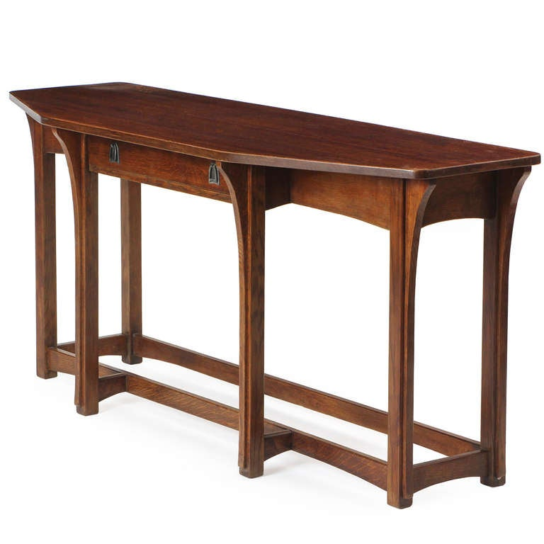 Arts crafts sofa table plans for Arts and crafts sofa table