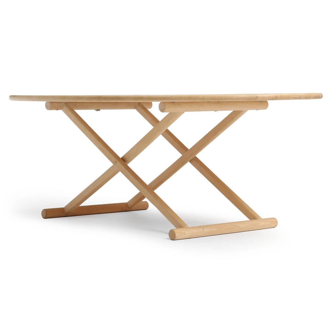 Scandinavian Modern Oval Low Table For Sale