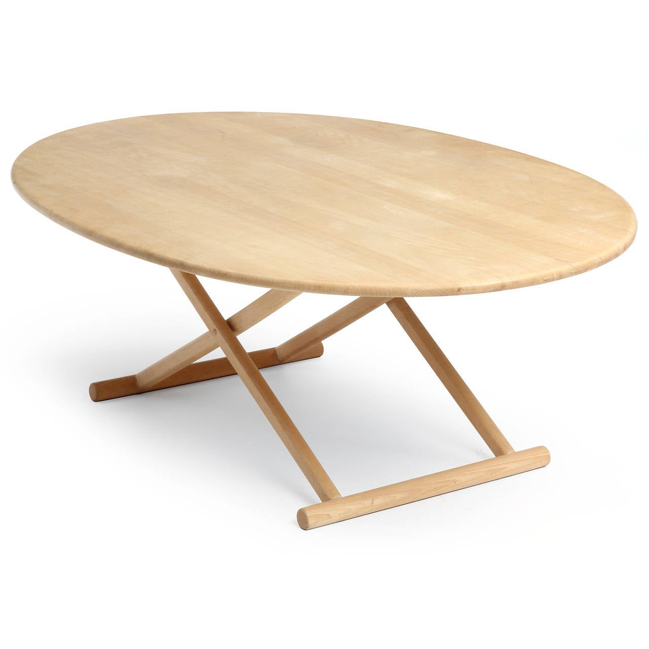 Oval Low Table In Good Condition For Sale In New York, NY