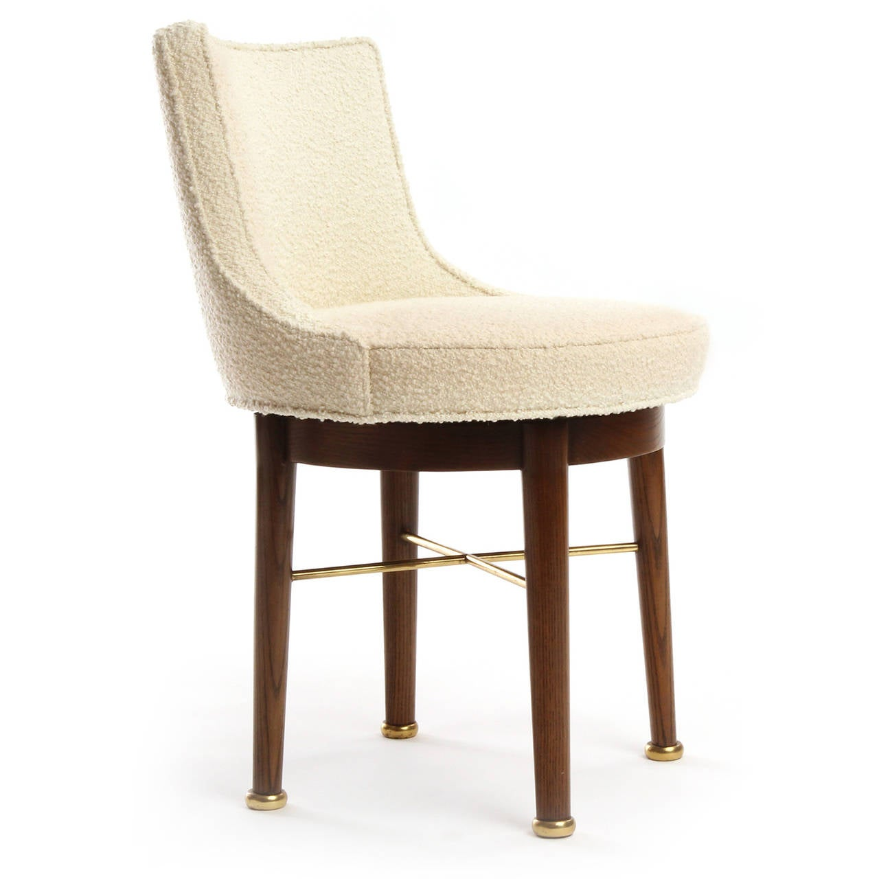 Swiveling vanity chair by edward wormley for sale at 1stdibs - Edward wormley chairs ...