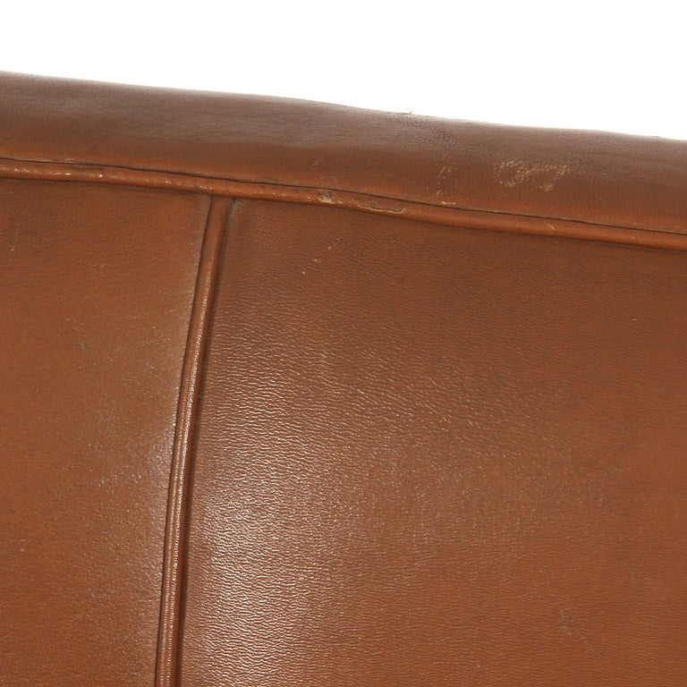 Mid-20th Century Leather Sofa by Ole Wanscher For Sale