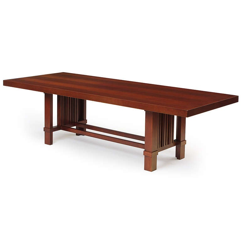 Dining Table by Frank Lloyd Wright at 1stdibs : 10216l from www.1stdibs.com size 768 x 768 jpeg 24kB