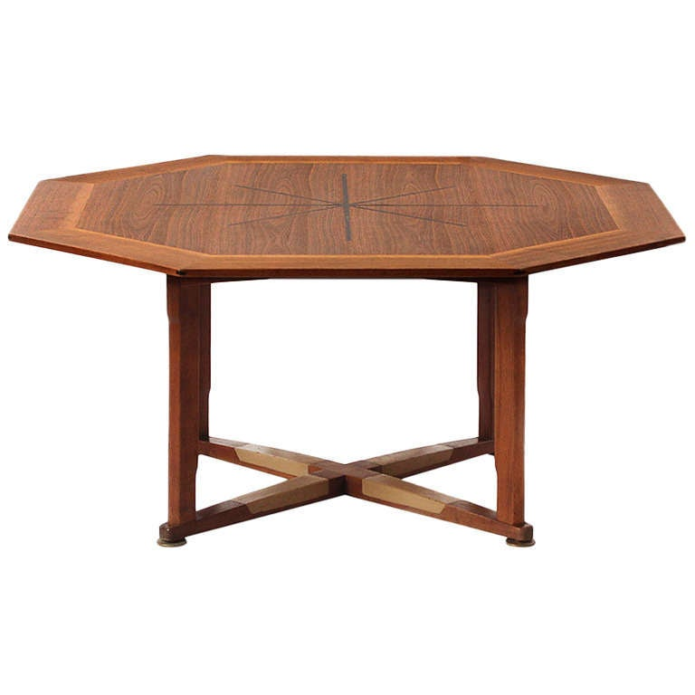 Octagonal Gaming Table by Edward Wormley